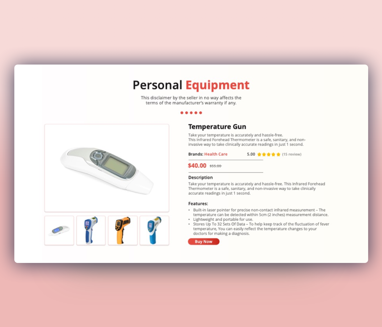 Thermometer Guns PPT – Personal Medical Equipment