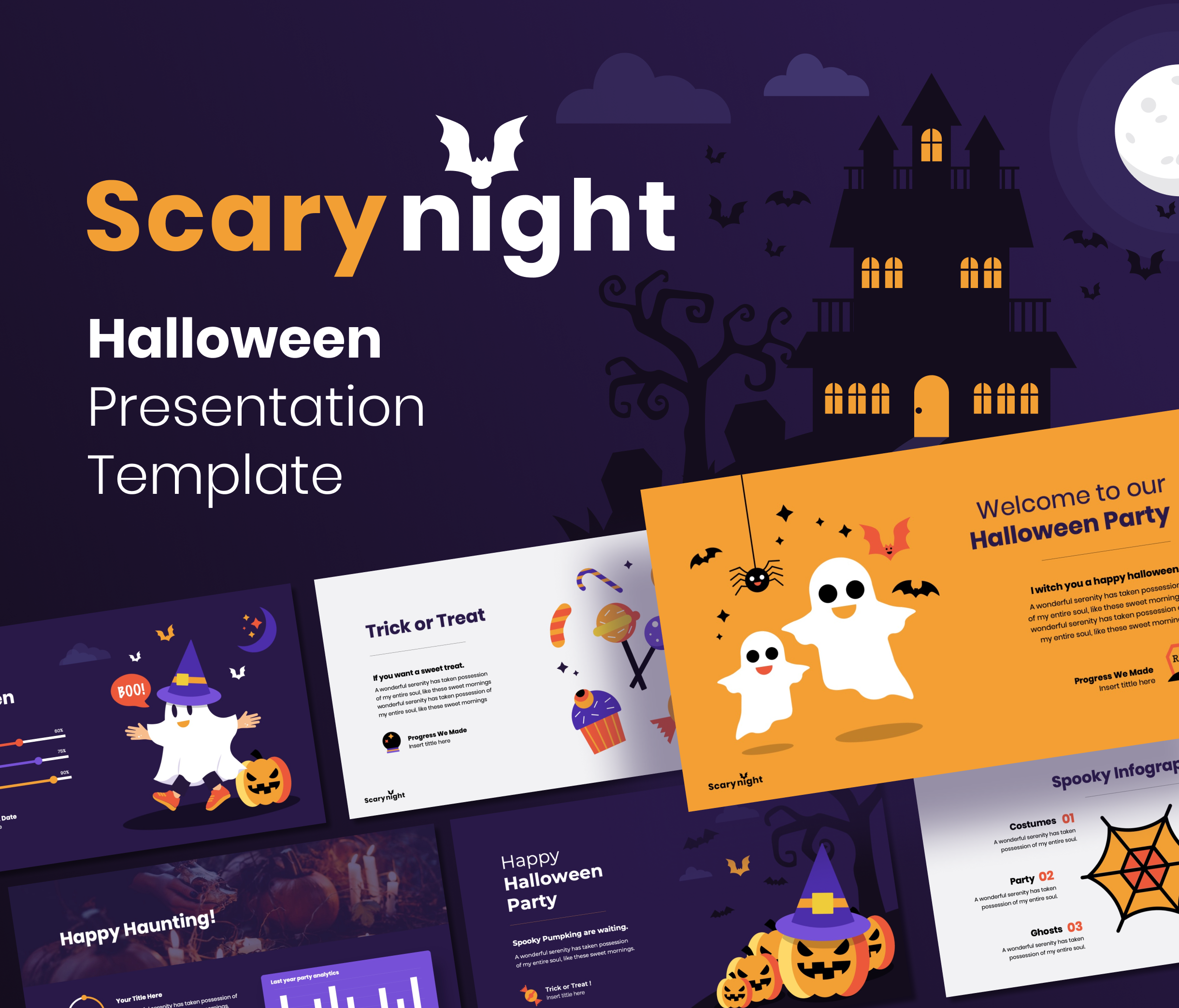Scary Night – Halloween PowerPoint Presentation Template
