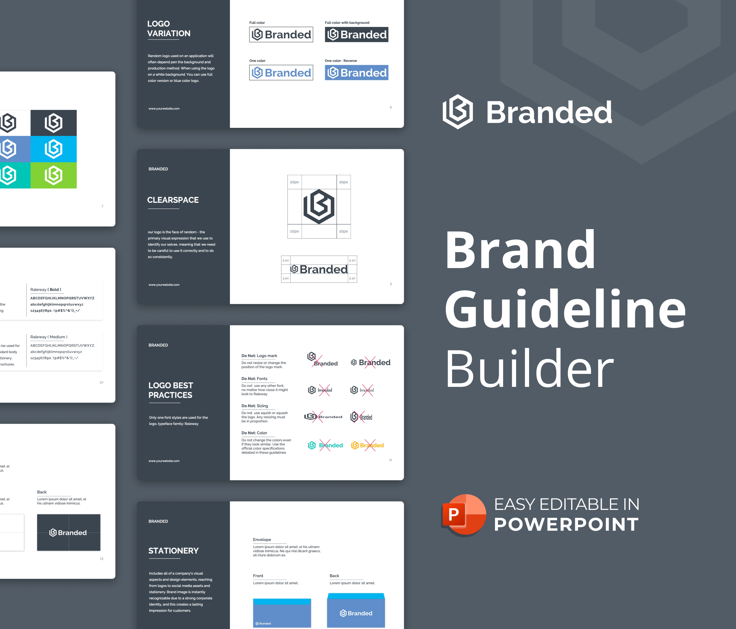 Brand Guideline Builder PowerPoint Presentation Template