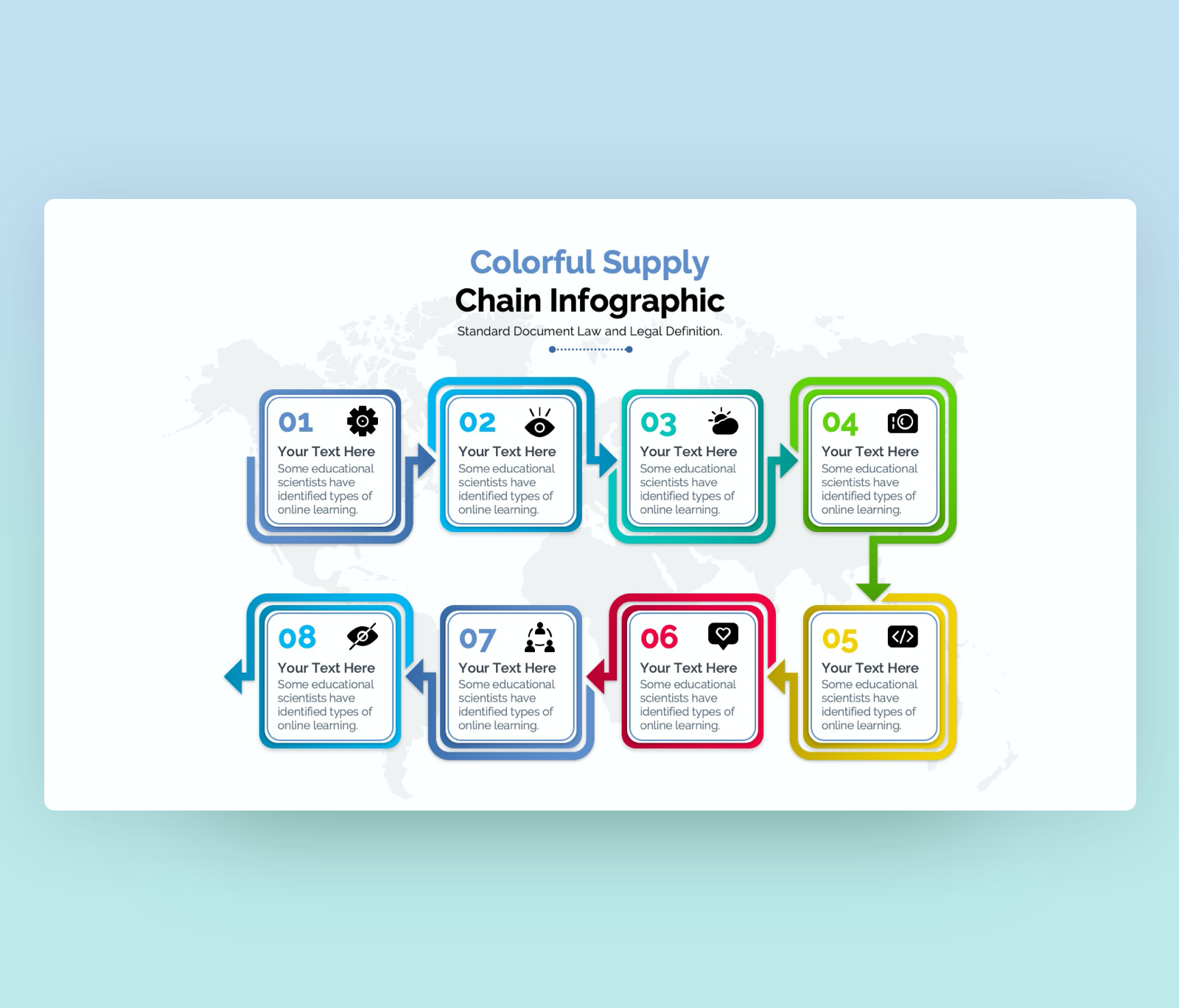 (SCM) Supply Chain infographic Template for PowerPoint