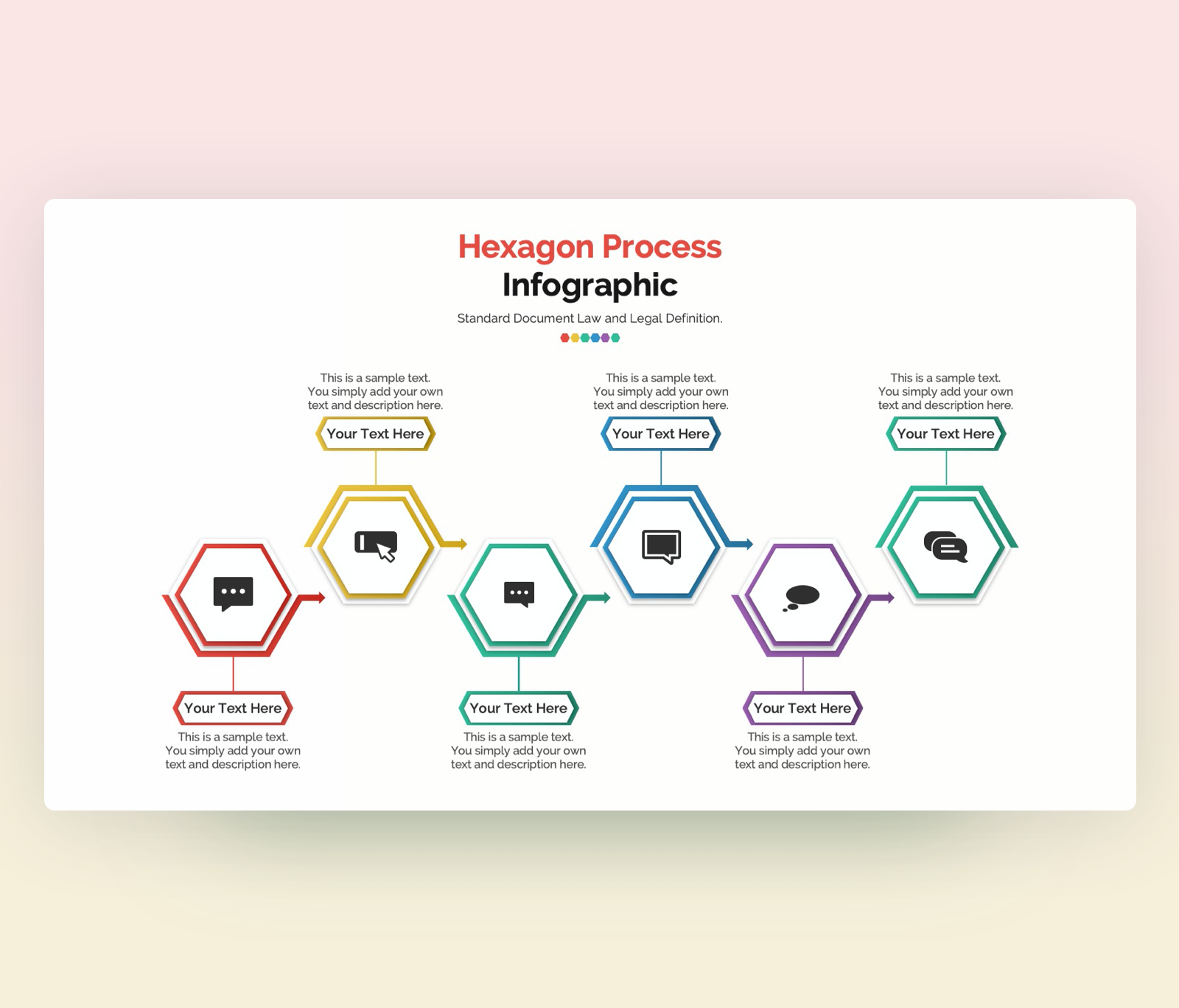 Editable Hexagon Infographic Template for PowerPoint