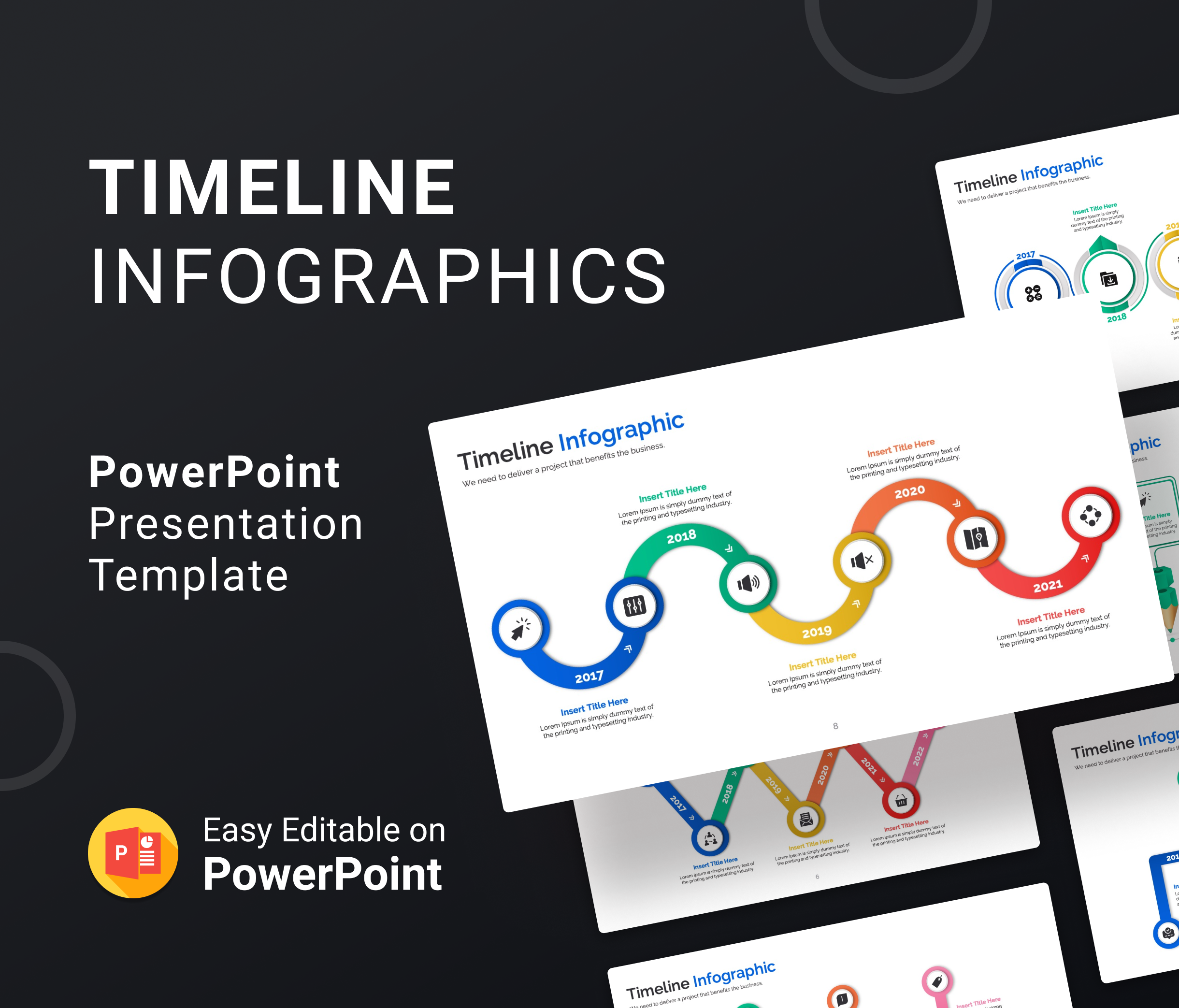 Timeline Infographics – PowerPoint Presentation Template