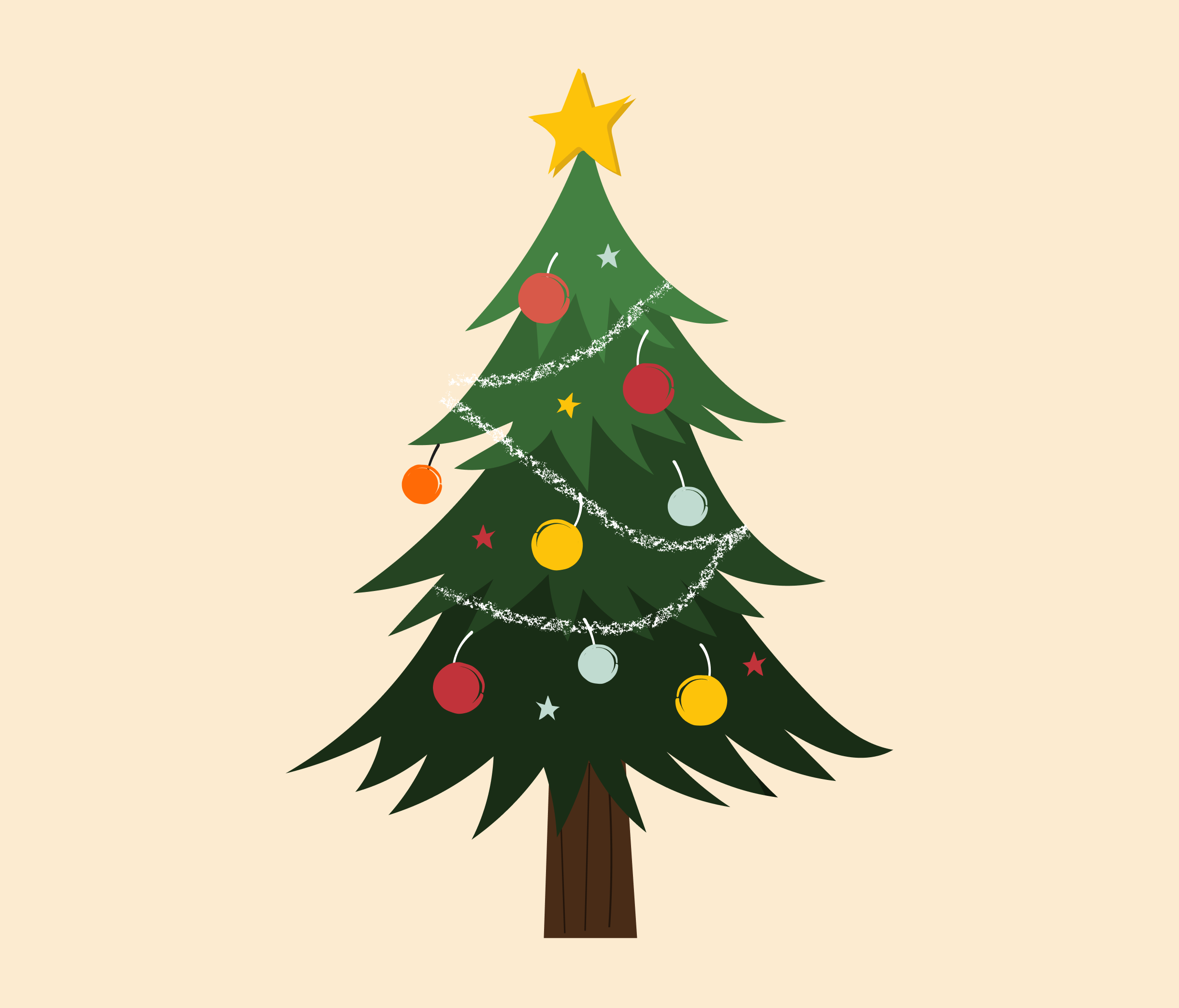 Christmas Tree Graphic Design for PowerPoint