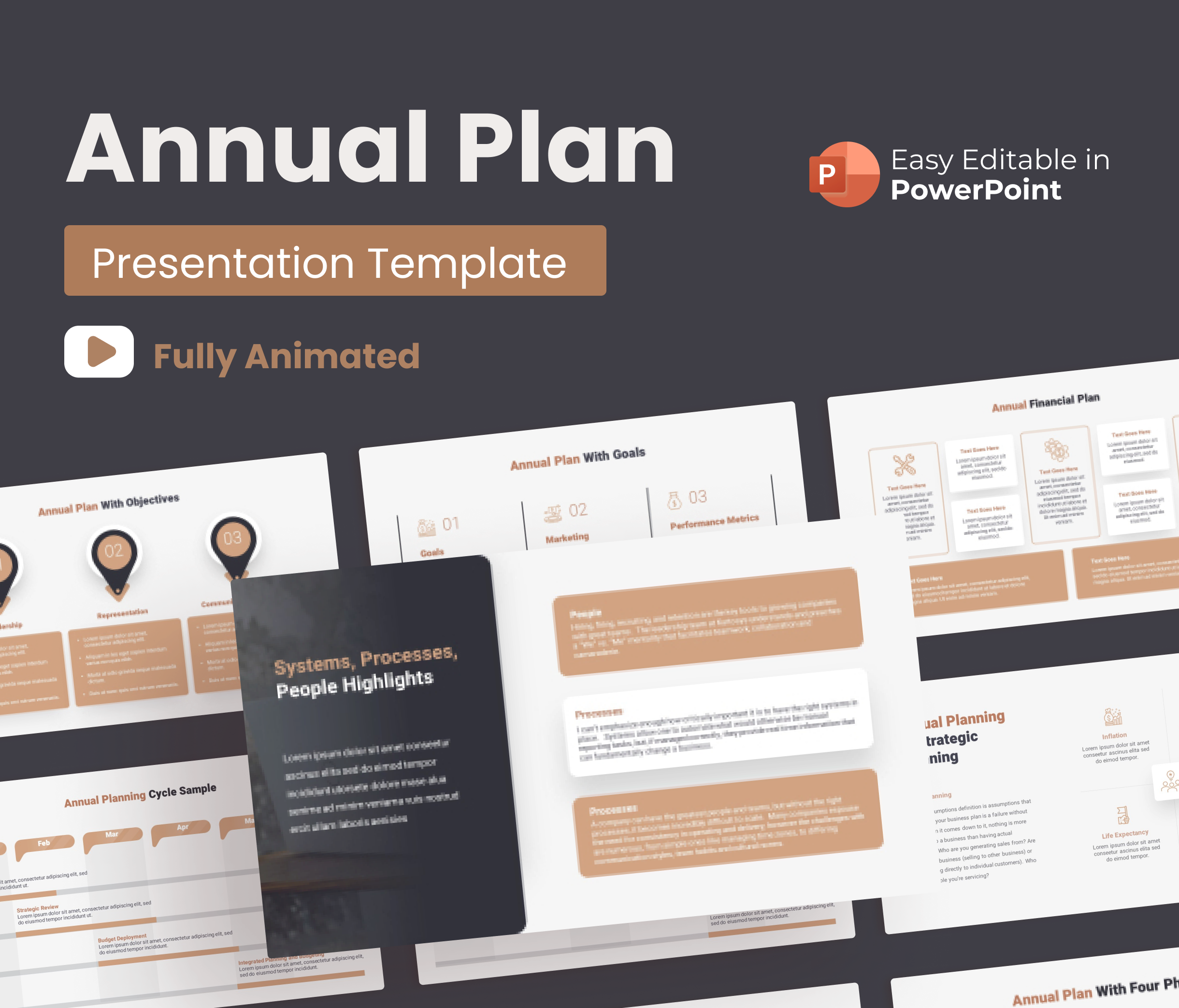 Annual Plan PowerPoint Presentation Animated Template
