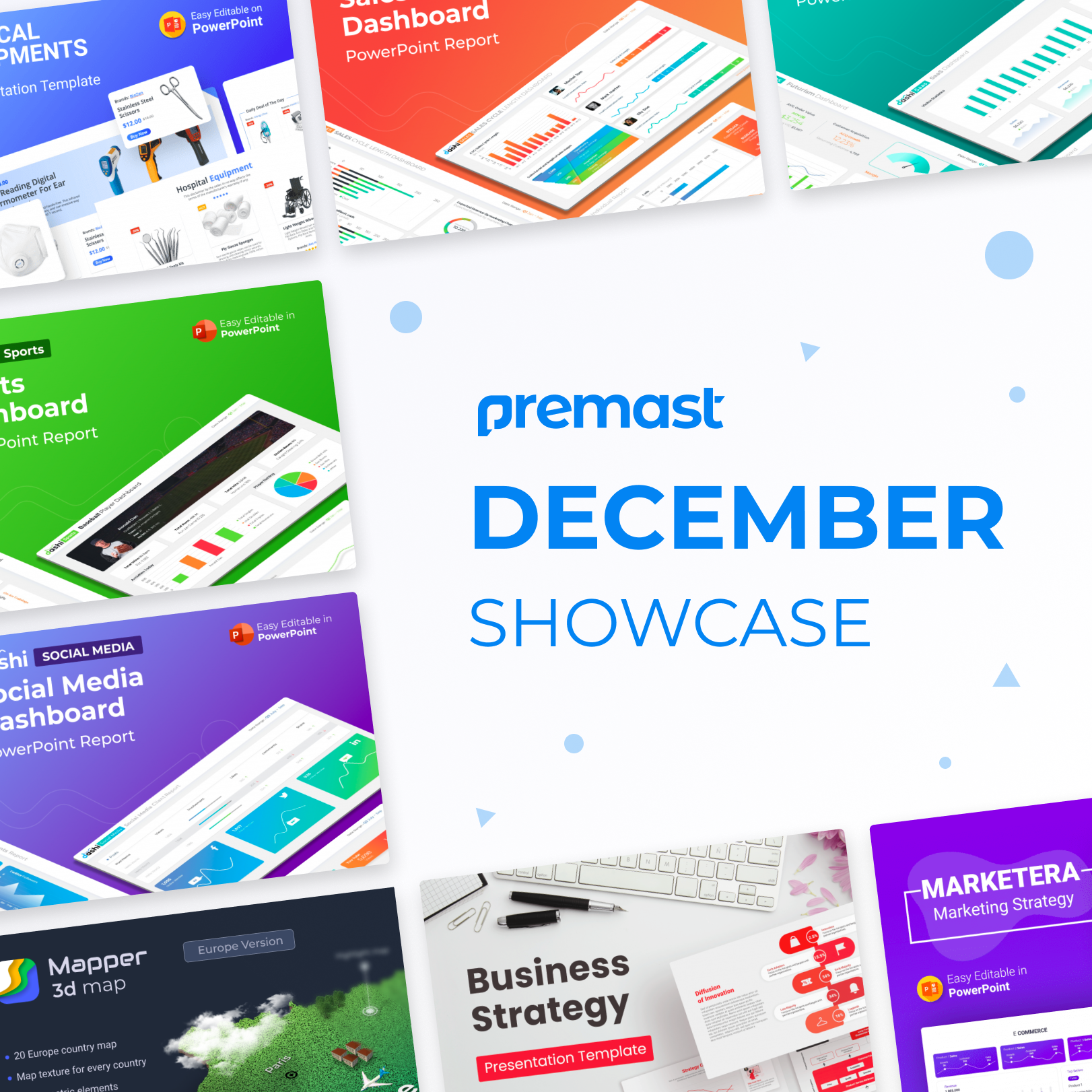 December Showcase: Recently Added, Top Downloaded PowerPoint Template& more!