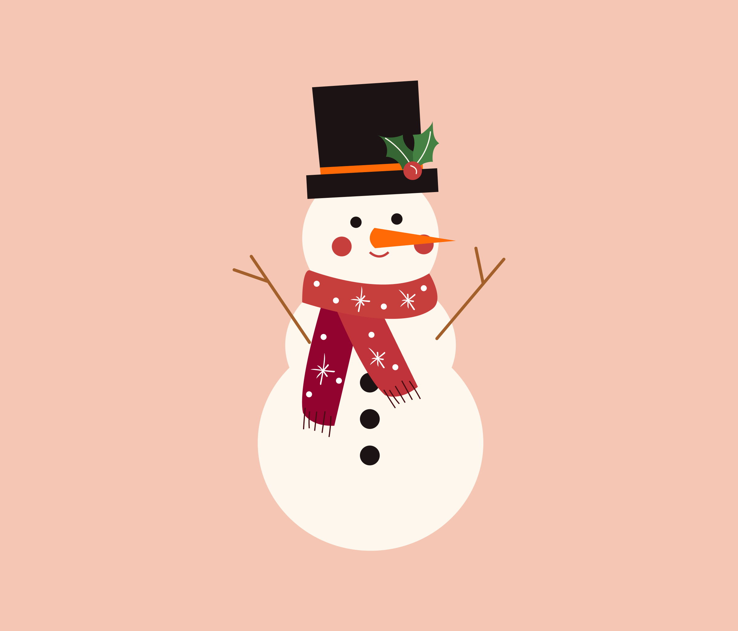 Snowman Vector for PowerPoint
