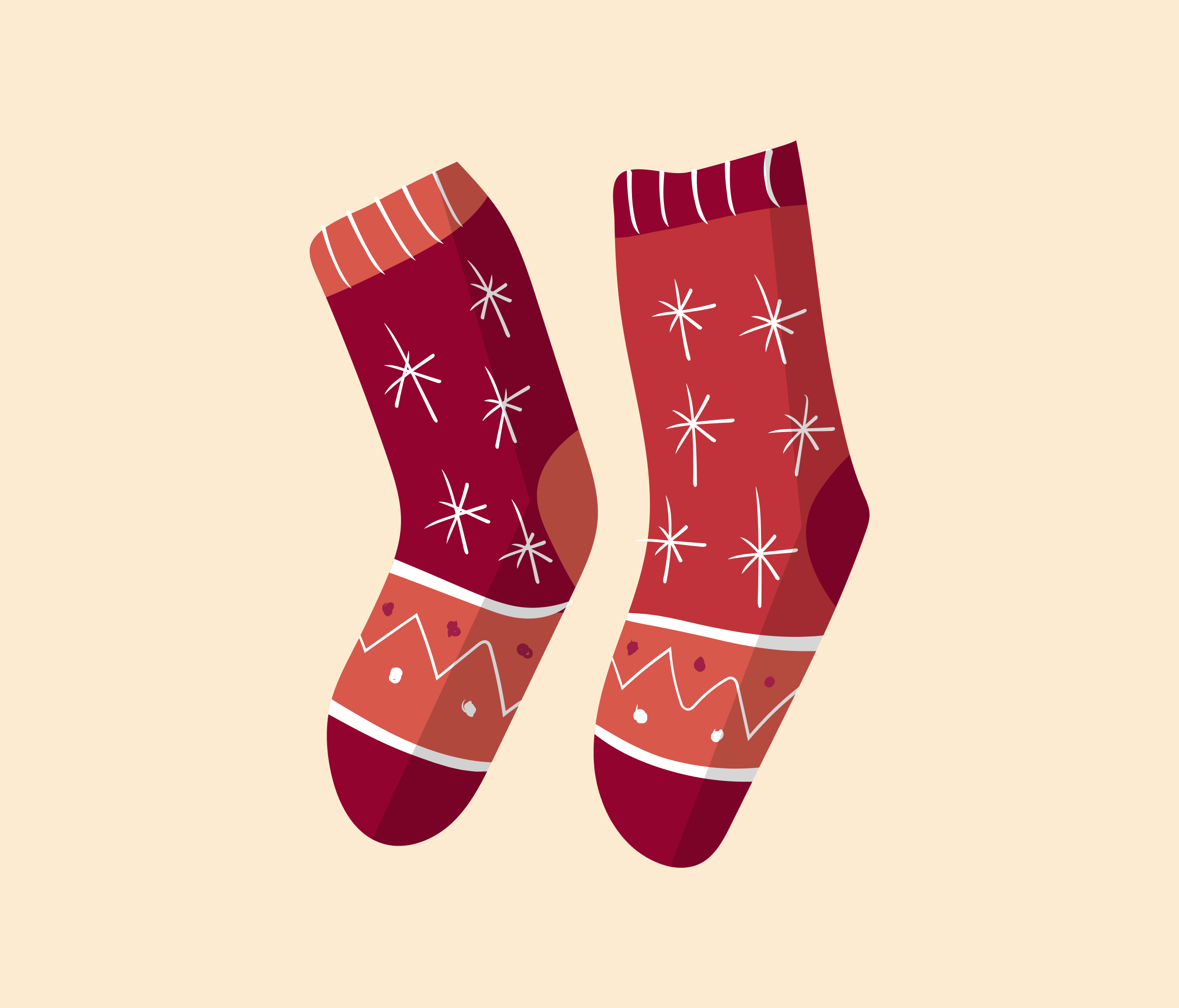 Christmas Socks Graphic Design for PowerPoint