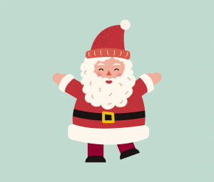 Santa Claus Graphic Design for PowerPoint
