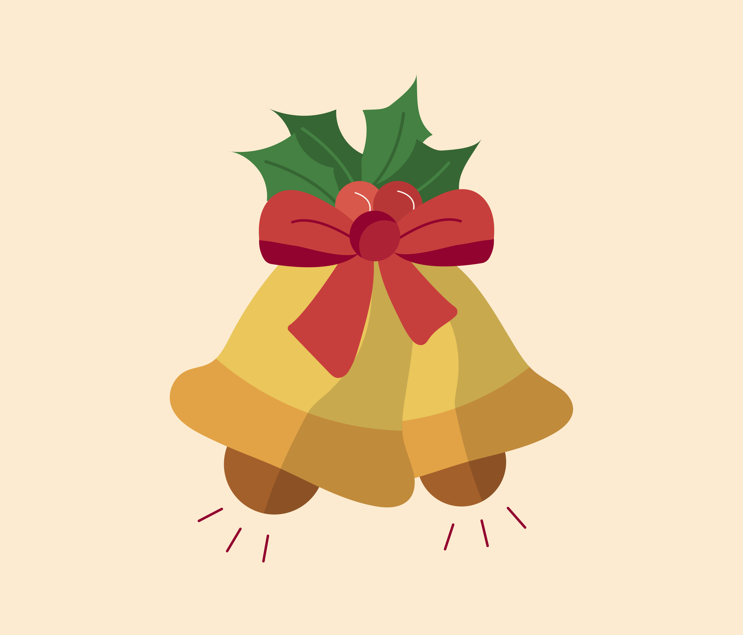 Christmas Bells Graphic for PowerPoint