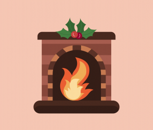 Fireplace Vector for PowerPoint