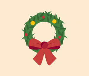 Christmas Wreath vector for PowerPoint