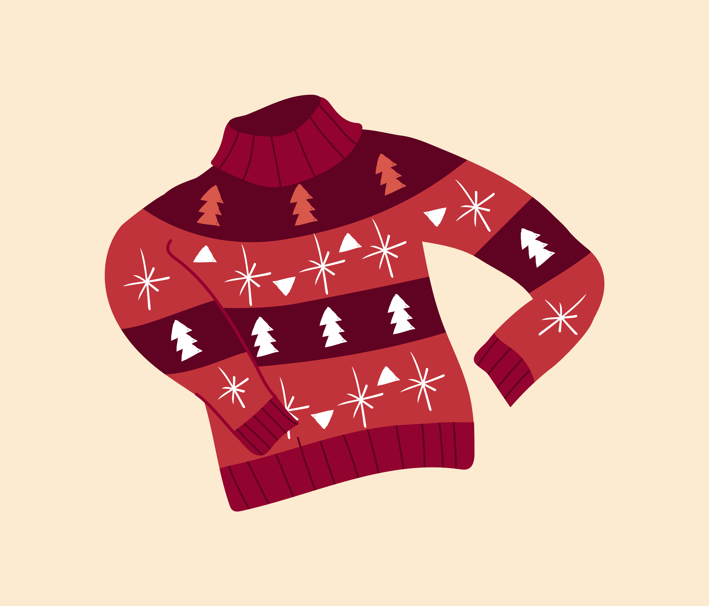 Christmas Sweater Graphic Design for PowerPoint