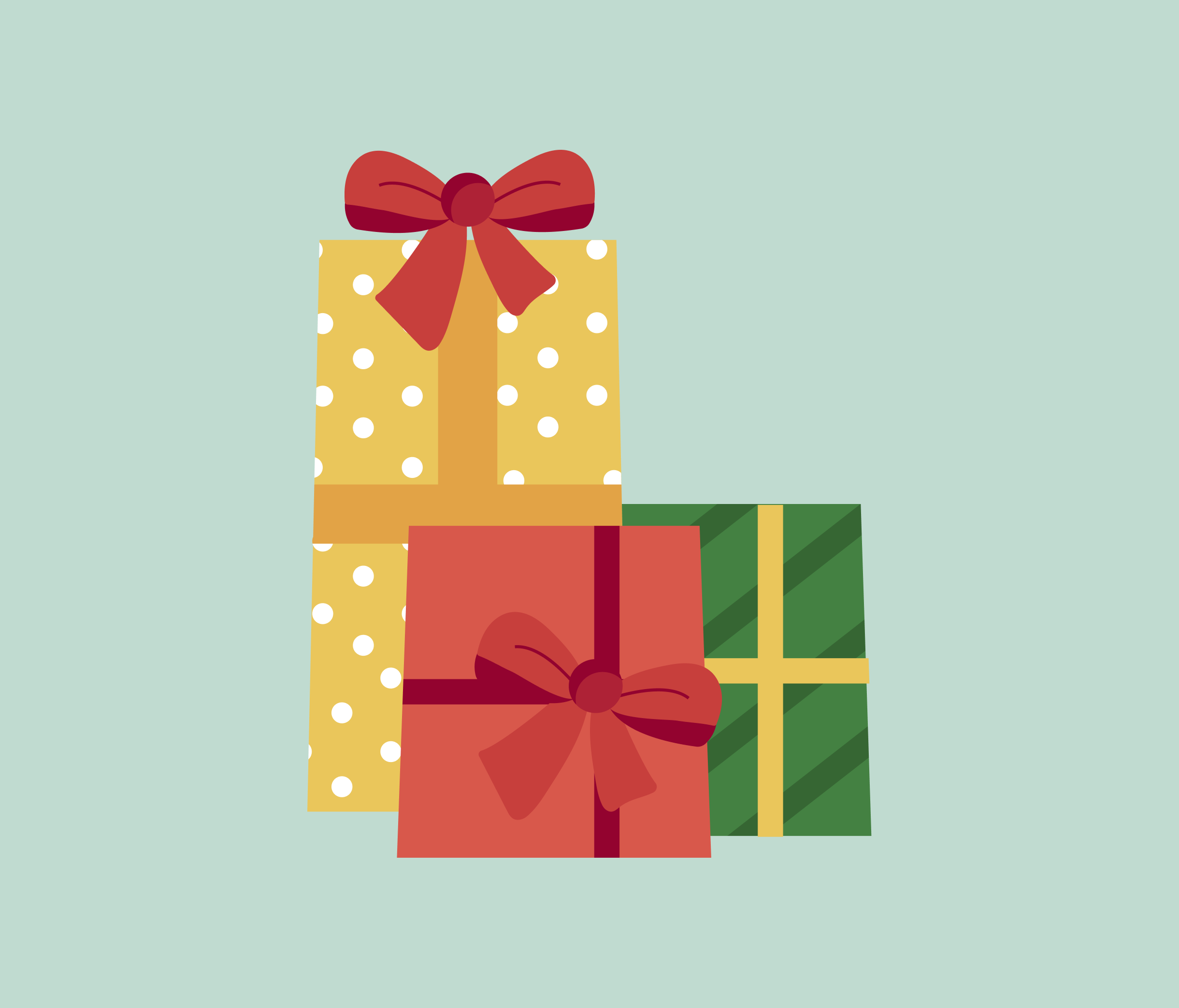 Christmas Gift Illustration for PowerPoint