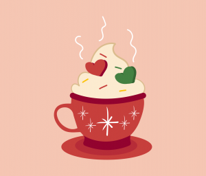 Christmas Foamy Cup Graphic for PowerPoint