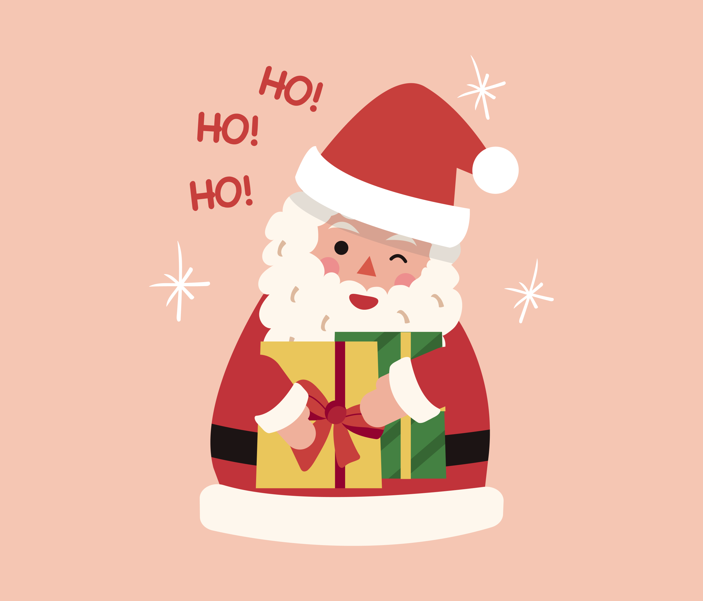 Happy Santa Claus Graphic for PowerPoint
