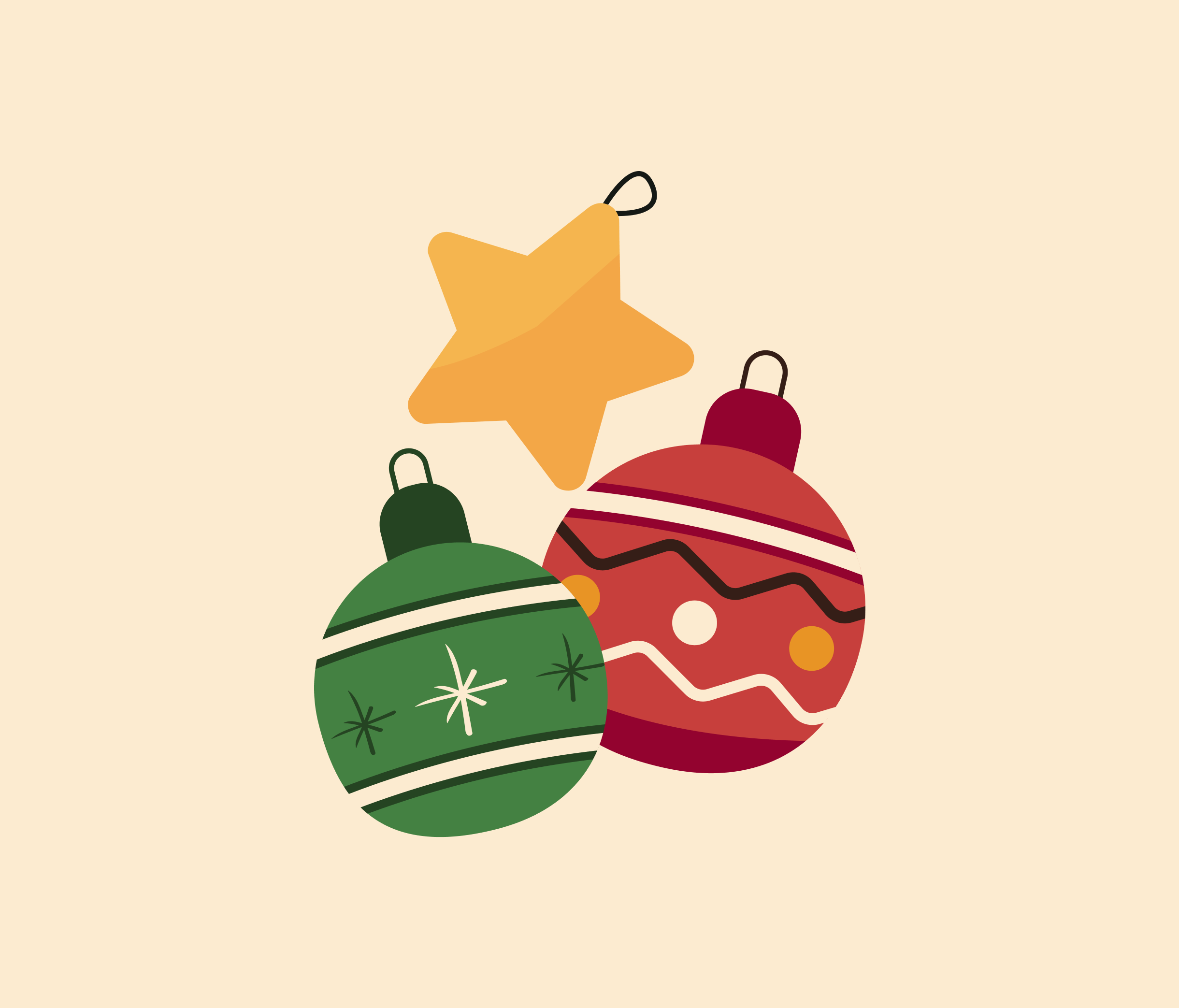 Christmas Decorations vector for PowerPoint