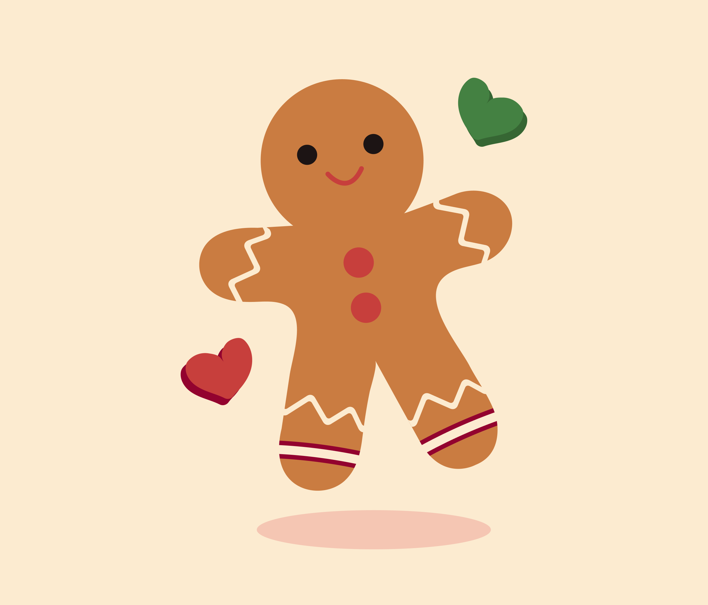 Happy Cookie Graphic Template for powerpoint
