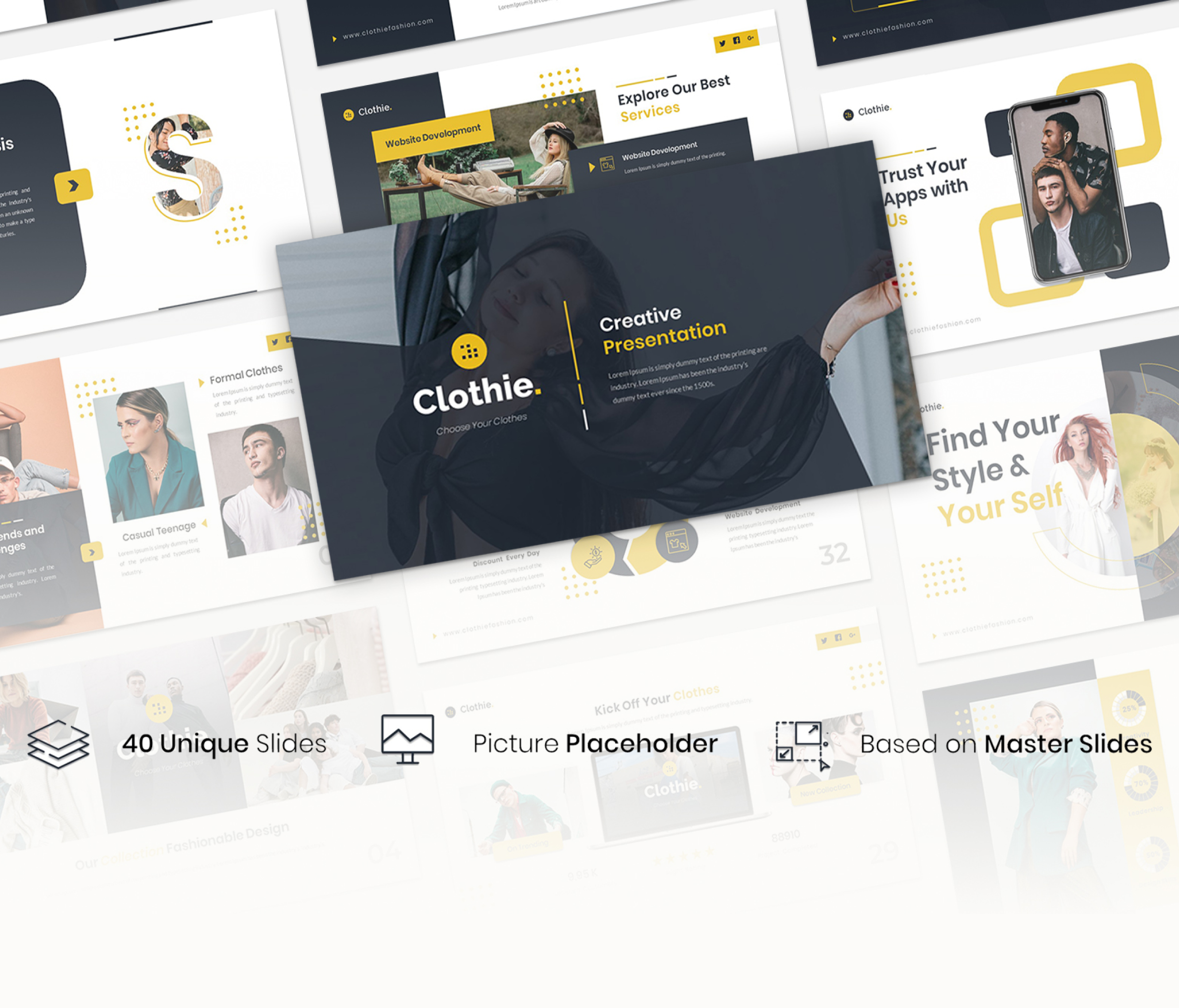 Clothie – Creative Business Presentation Template