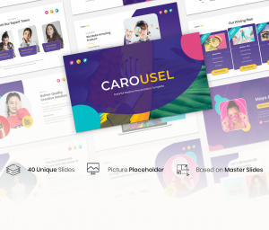 Carousel –  Colorful Modern Presentation Google slide