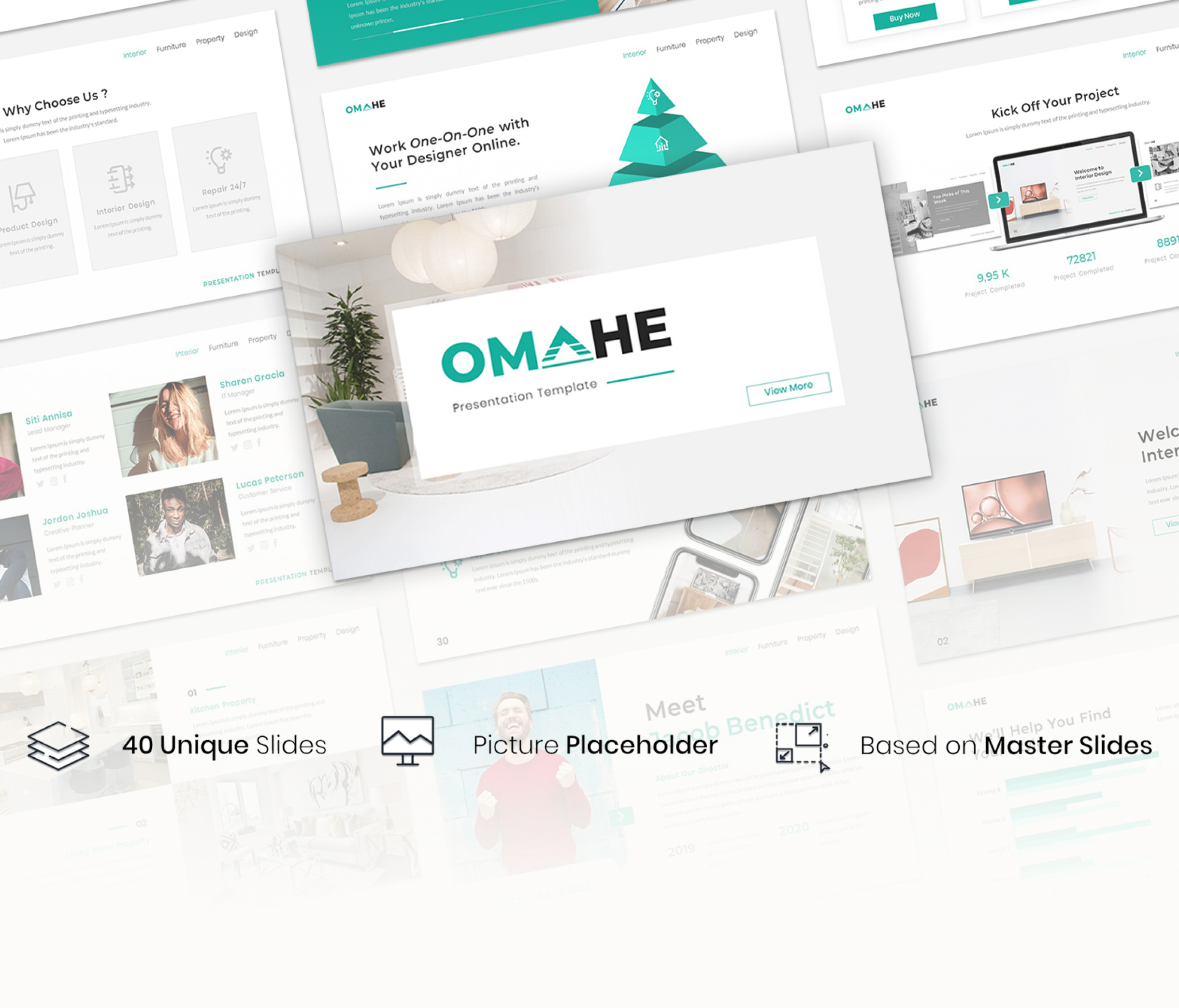 Omahe – Interior Design Presentation Template