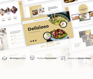 Delizioso – Food and Restaurant Google Slides Template