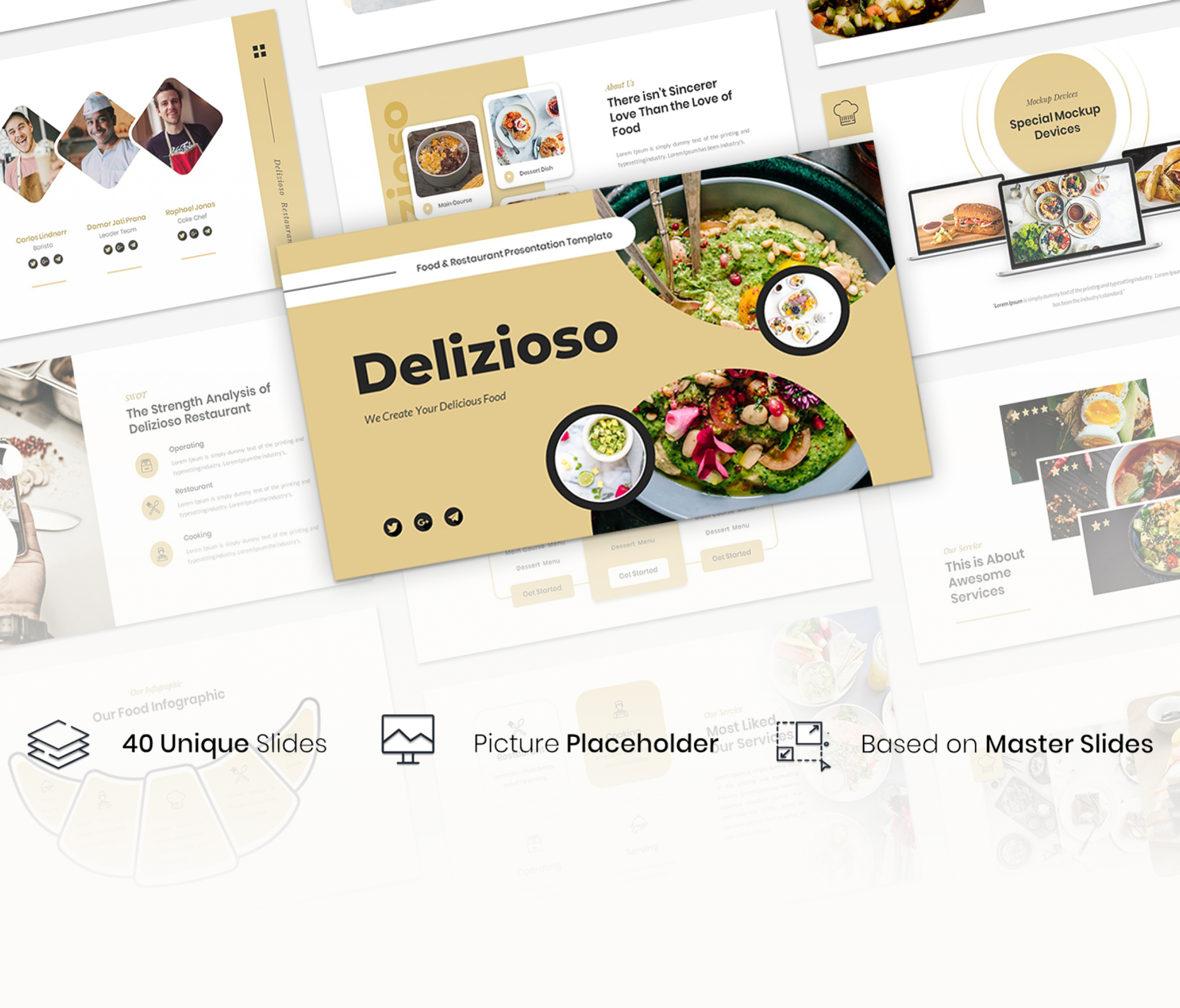 Delizioso – Food and Restaurant PowerPoint Template