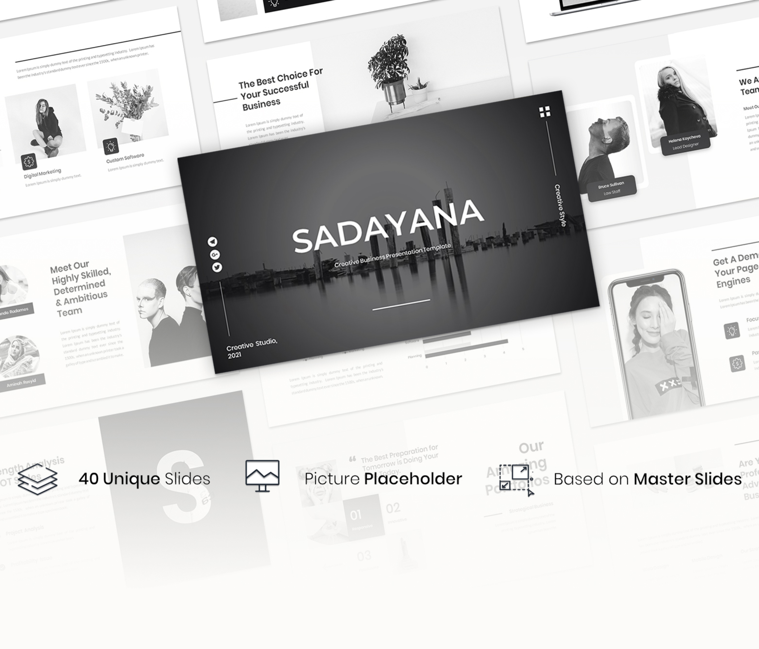 Sadayana – Creative Business Presentation Google slide