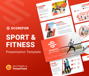 Scorefor – Sports and Fitness PowerPoint Presentation Template