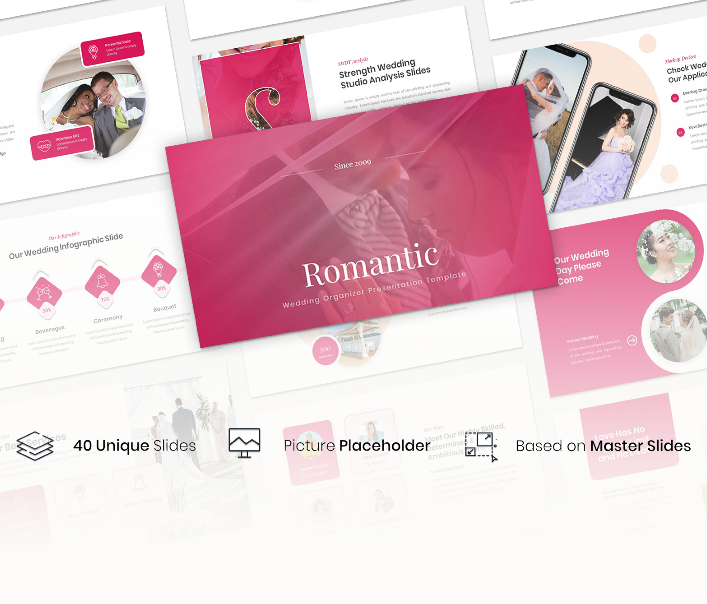 Romantic – Wedding Organizer Google slide