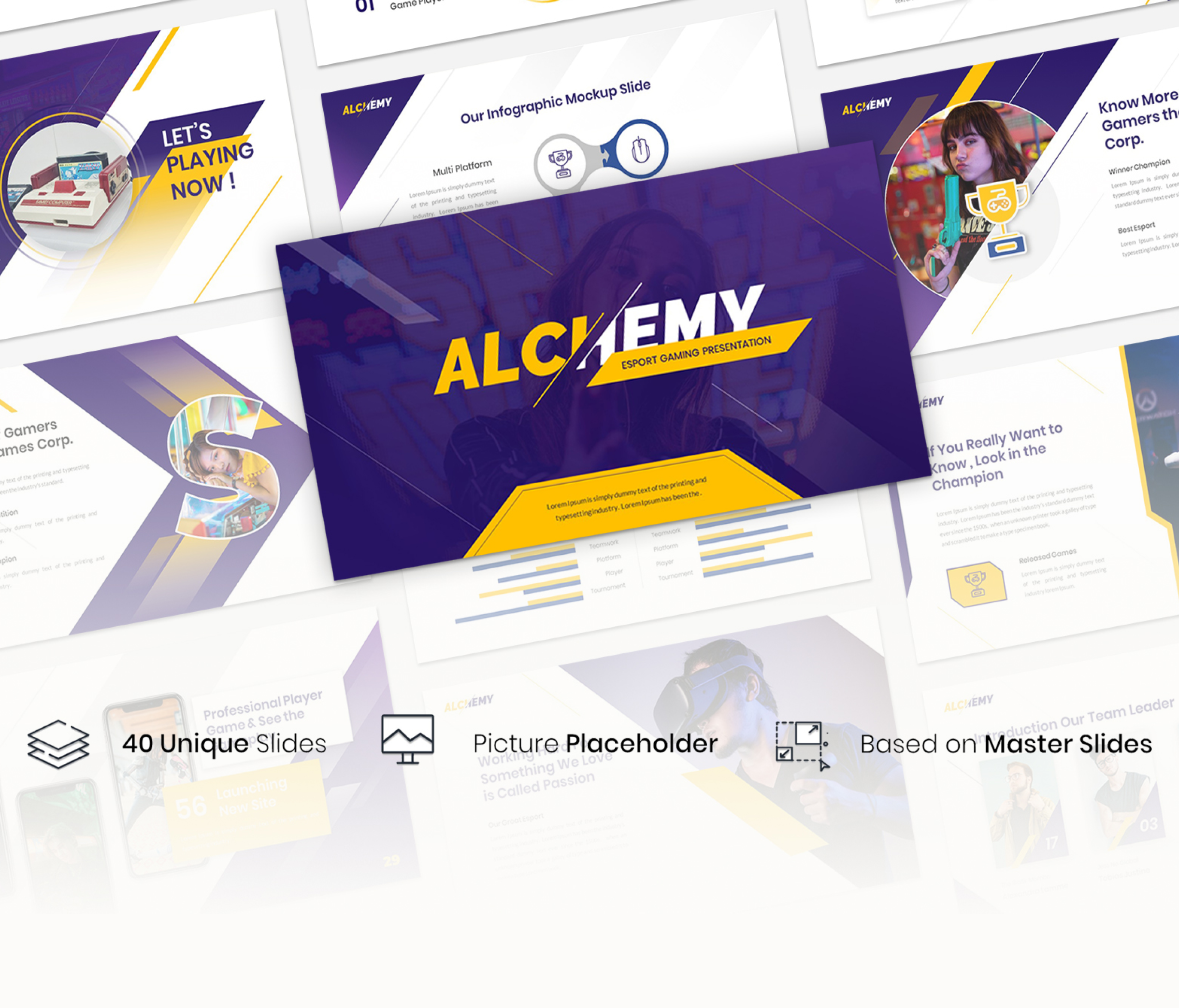 Alchemy – Esport Gaming Google Slides Template