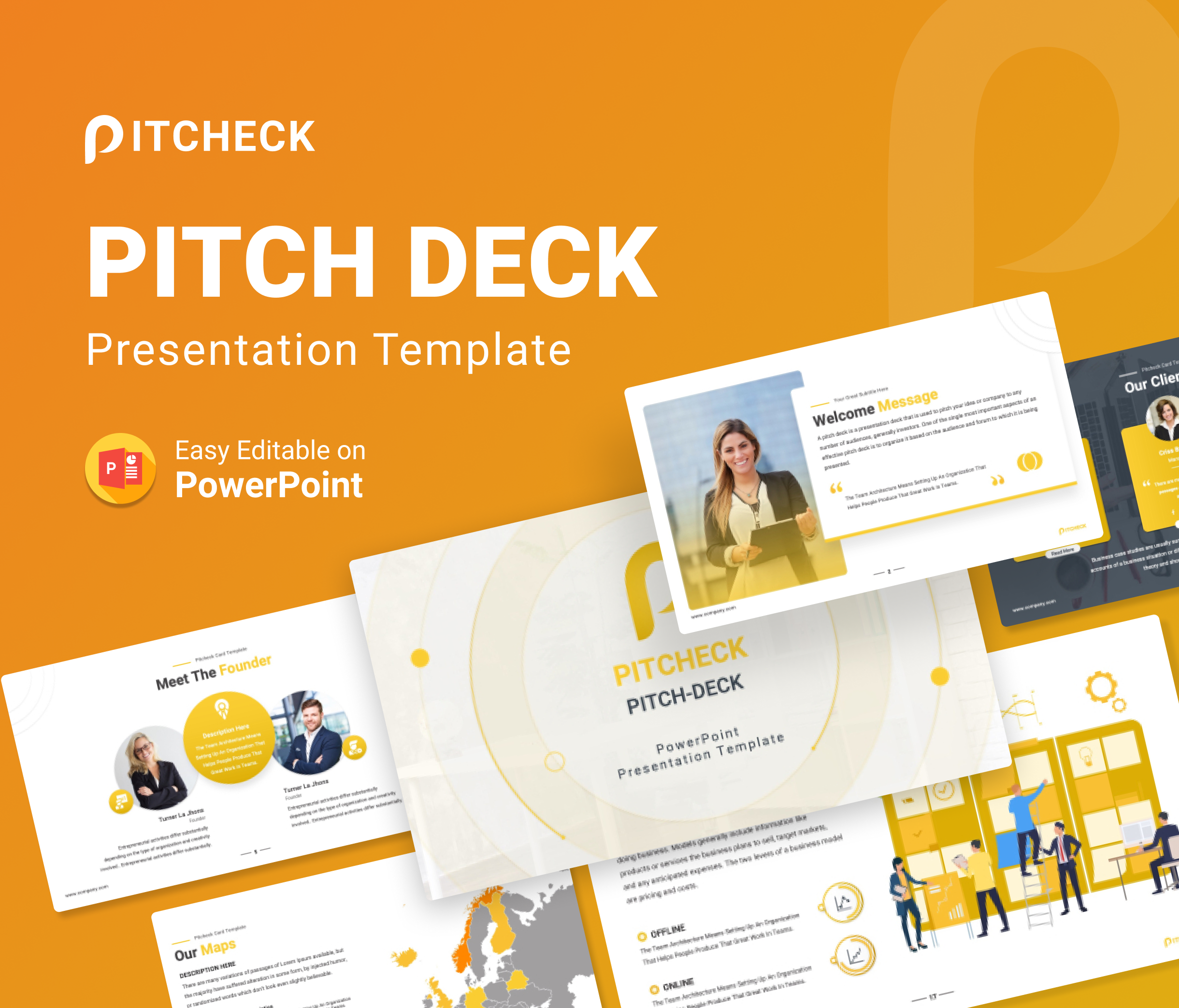 Pitcheck – Pitch Deck PowerPoint Presentation Template