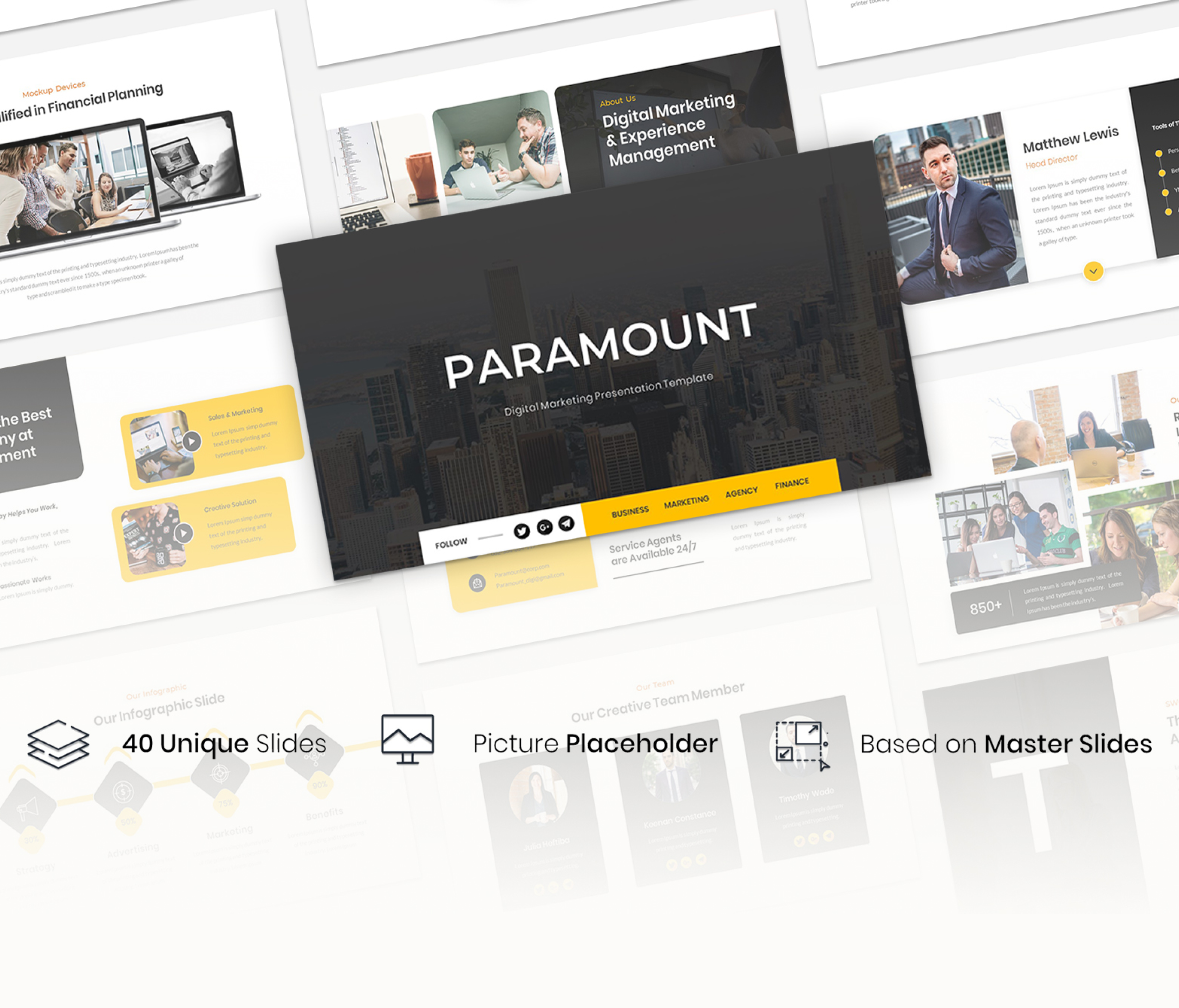 Paramount – Digital Marketing PowerPoint Template