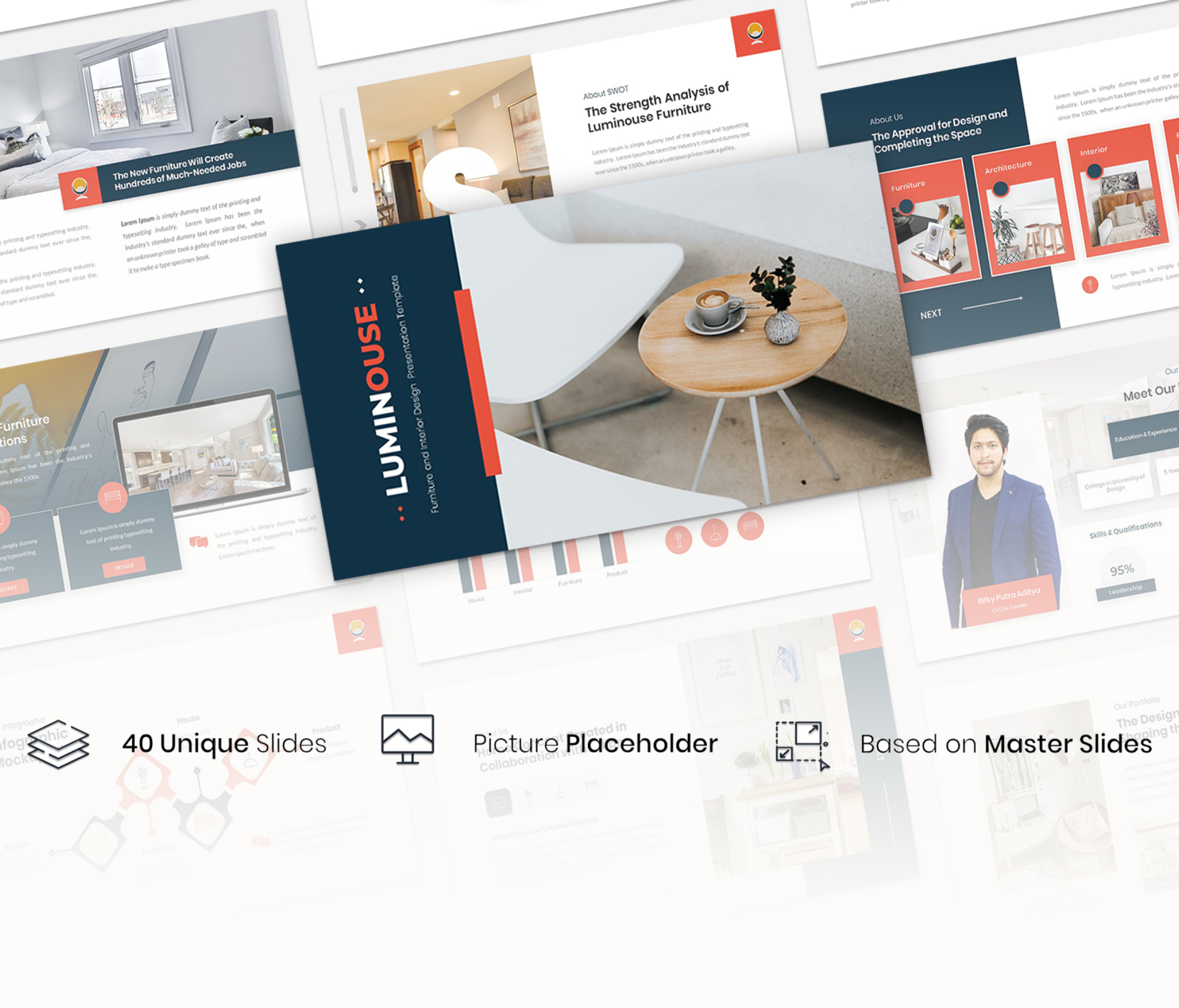 Luminouse – Furniture and Interior Design Google Slides Template