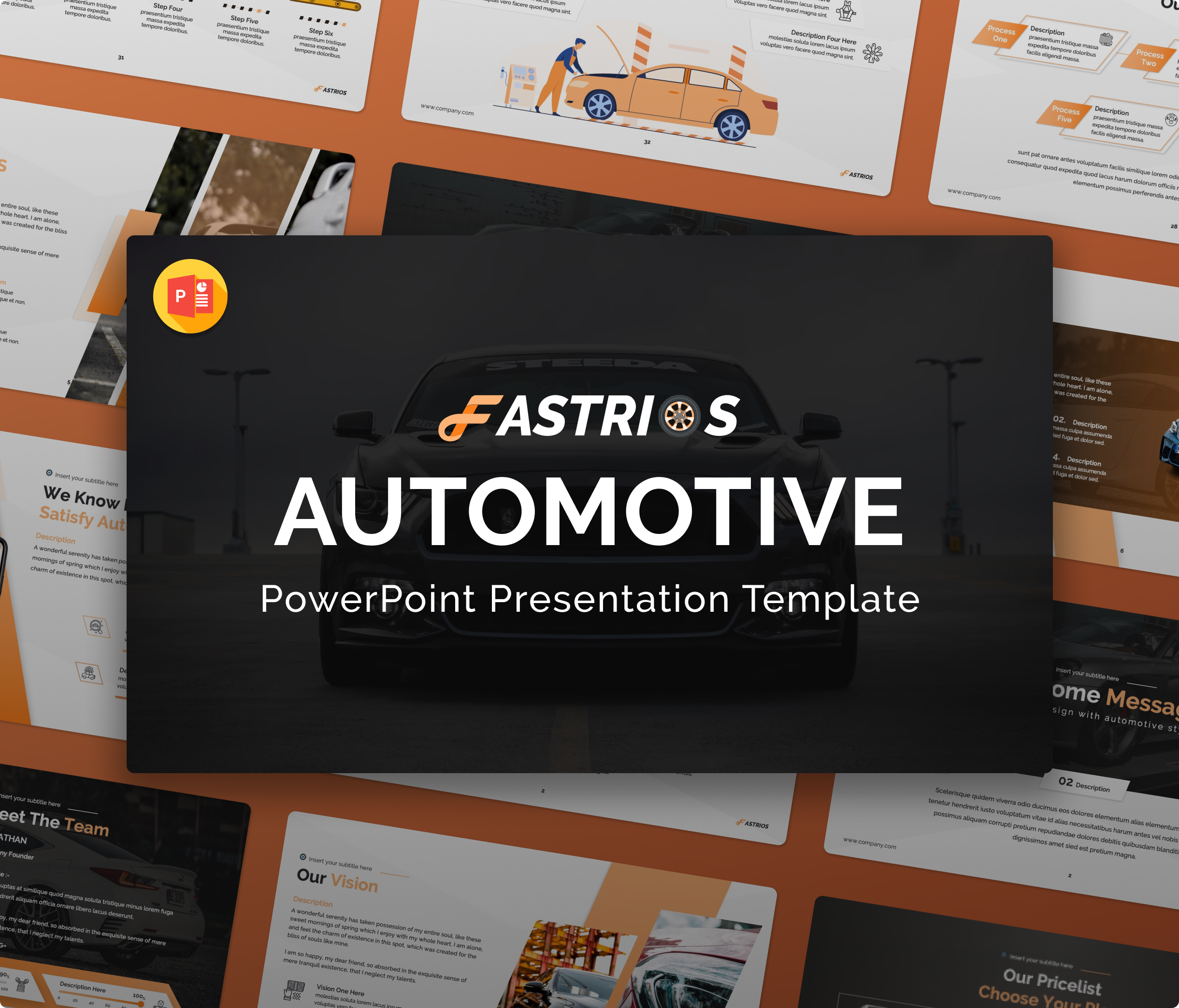 Fastrios – Automotive PowerPoint Presentation Template
